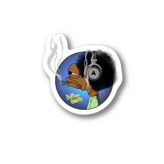 Bottom Beats Stickers