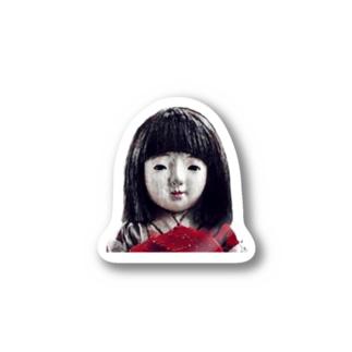 恐怖の人形 Stickers