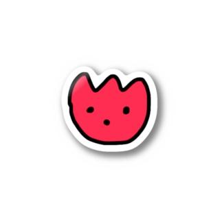 赤いチューリップ Stickers