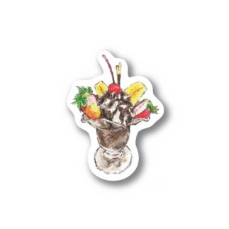 チョコレートパフェ(文字無し) Stickers