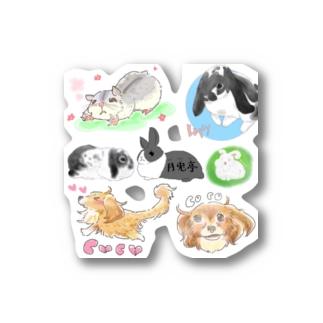 月兎亭ステッカー Stickers