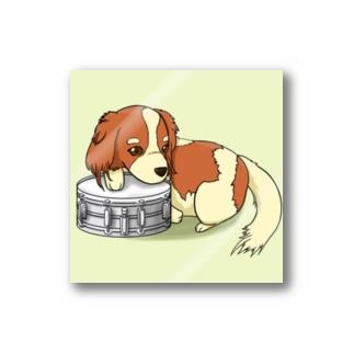 ドラム犬ステッカー Stickers