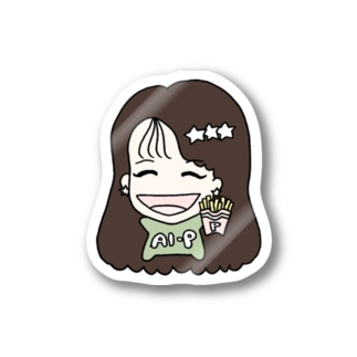 AIP-original goods shopのちびあいぴーステッカー pistachio Stickers