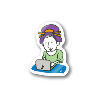 PC Girl Stickers