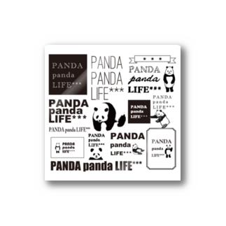 ロゴロゴ パンダ Stickers