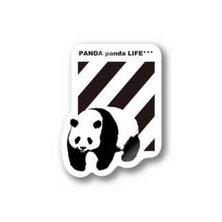 飛び出すパンダ ストライプ Stickers
