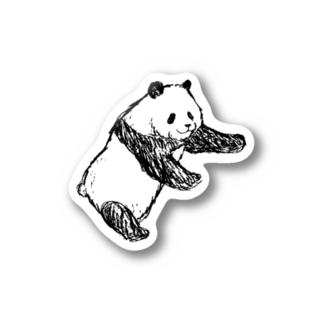 双子パンダ 左側 Stickers