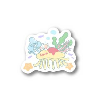 クラゲオムライスにのって Stickers