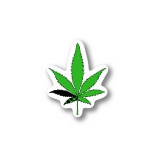 大麻はだめ Stickers