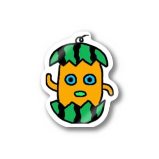 モグステッカー(スイカ) Stickers