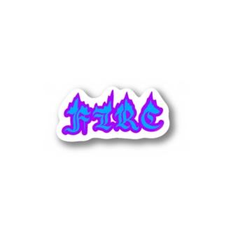 FIRE_w Sticker