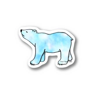 上向きでいこうアニマル クマ Stickers