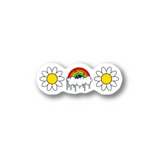 溶けた虹feat.花 Stickers