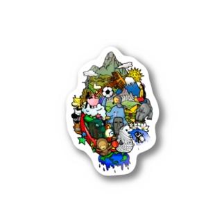 World travel -2 Stickers
