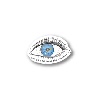 Universe in the eye Stickers