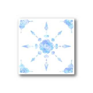 kaleidoscope (blue) Stickers