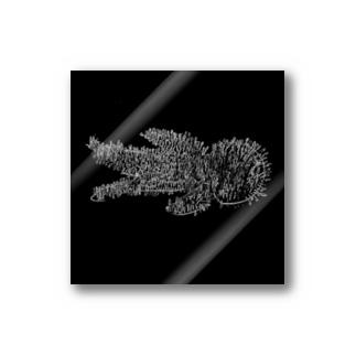 綿棒刺突図(黒) Stickers