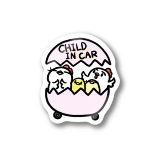 CHILD IN CAR  パステルピンク Stickers