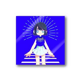 🕴💙 kaipyopyopyo 💙🕴のプロトタイプ・かいぴょ子ちゃんステッカー Stickers