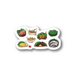 居酒屋メニュー8種セット(横形並び) Stickers