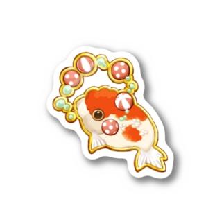 金魚サーカス-桜錦 Stickers