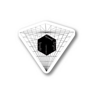 ブラックキューブ 反転ピラミッド Stickers