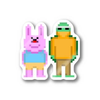 ドット絵ウサカメ Stickers