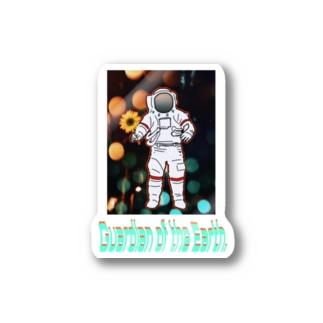 地球防衛隊! Stickers