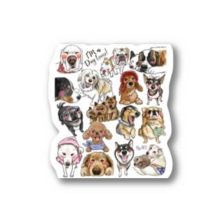 犬に夢中(クリア) Stickers