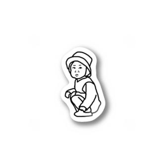 しゃがむちゃん Stickers