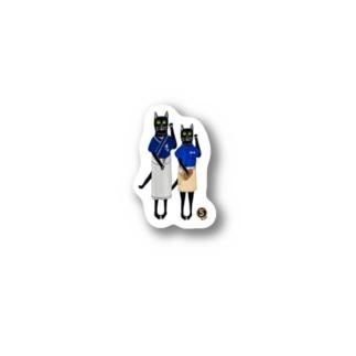 「福いる」版→ににゃっにゃいにゃせ(いらっしゃいませ) Stickers