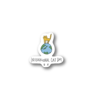 33 STOREの世界猫の日 Stickers