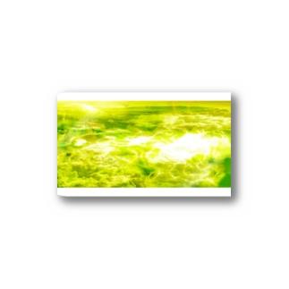 「宇宙の水面」黄緑1-2 Stickers