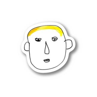 謎の金髪 Stickers