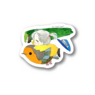 ステッカー ポー&リルフィ ペンキぬり Stickers