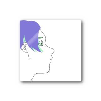 センター分け男子 Stickers