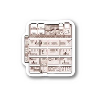 ビルディング Stickers