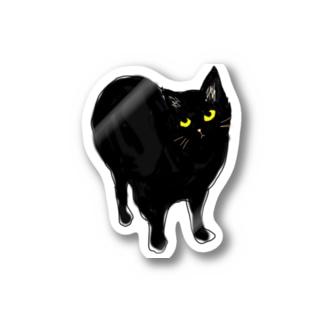 目付きは悪いけど可愛い猫 Stickers
