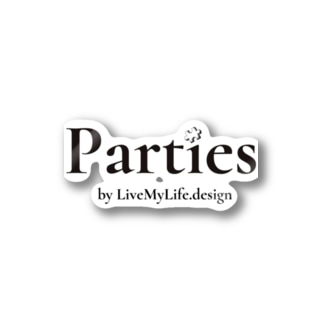 Parties公式(書体ver.) Stickers