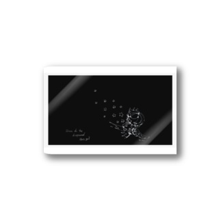 STAR black Stickers