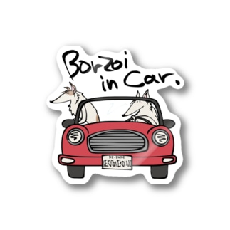 ボルゾイ in Car 2020 Stickers