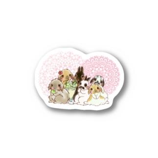 うさちゃんとメロンパフェ Stickers