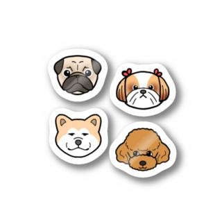 わんこセットのステッカー Stickers