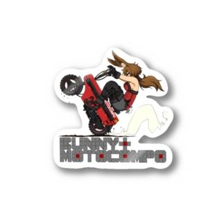 BUNNY&MOTOCOMPO Stickers