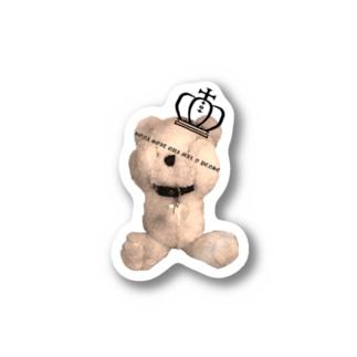 Royal Teddy  Sepia Stickers