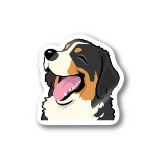 バーニーズマウンテンドッグ12 Stickers