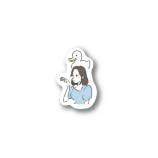あひる Stickers