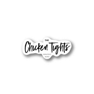 the chicken tights logo Stickers