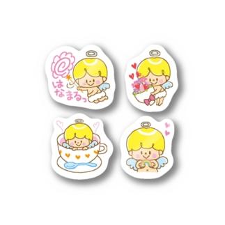 天使のステッカーA(小4柄) Stickers