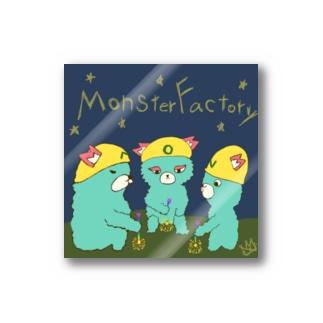 ねこぜや のモンスター工場🏭夏の終わり🎆 Stickers